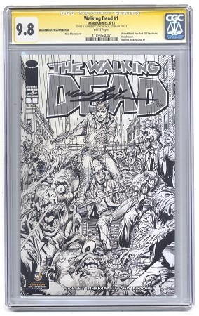 Walking Dead #1 Signed and Numbered Black & White CGC 9.8
