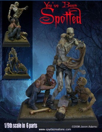 You've Been Spotted- Zombies -Resin Model Kit
