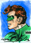Green Lantern Water Color Sketch Card