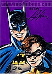 Batman & Robin Marker Color Sketch Card