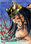 Barbarian Marker Color Sketch Card