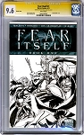 Fear Itself #1 Blank cover with Thor Battle