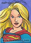 Supergirl Marker Color Sketch Card