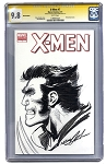 Wolverine drawn on a Blank X-Men #7 CGC 9.8